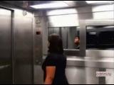 Девочка приведение в лифте ужасов.розыгрыш